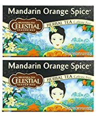 Celestial Seasonings Herbal Tea, Mandarin Orange Spice, (2 Pack)