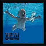 """GB eye Nirvana """"Nevermind con marco portada del álbum, multicolor, 30x 30cm"""