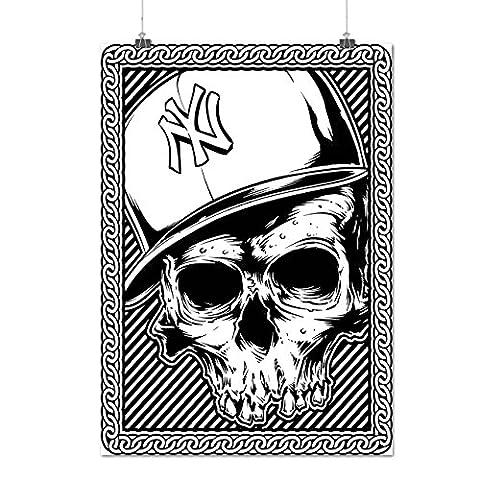 Neu York Schädel Gangster Tod Gang Mattes/Glänzende Plakat A2 (60cm x 42cm) | Wellcoda