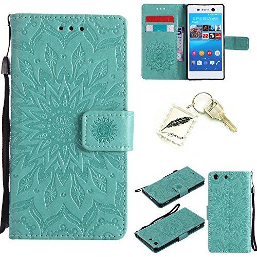 Preisvergleich Produktbild Silikonsoftshell PU Hülle für Sony Xperia M5 (5,0 Zoll ) Tasche Schutz Hülle Case Cover Etui Strass Schutz schutzhülle Bumper Schale Silicone case+Exquisite key chain X1#KD (6)