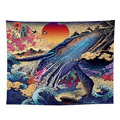 Lefu arazzo tappezzerie da parete in stile giapponese ukiyo-e tende per la casa decorazioni per soggiorno camera da letto dorm conveniente
