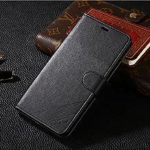 Meizu M2 Note/MEILAN NOTE2 Monedero Funda - CHENXI Premium PU Funda de cuero Flip Case Cover con ranuras tarjetas Cierre Magnetico para Meizu M2 Note/MEILAN NOTE2 Negro