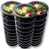 Accmart Wegwerflebensmittelbehälter-Mahlzeit-Vorbereitungs-Schüsseln - Plastikbehälter mit Deckeln Rechteckige Mahlzeit-Vorbereitungs-Behälter für Haus, Arbeit und Reisegebrauch, 750ML, 12PCS (12pcs)