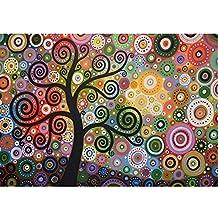 Bordado de diamante para pintura de árbol de la vida con diamantes de imitación de punto