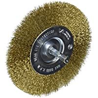 Vermont American 1679410,2cm fine Brass Wire Wheel Brush with 1/10,2cm hex shank for drill by Vermont American - 2 Wheel Fine Wire