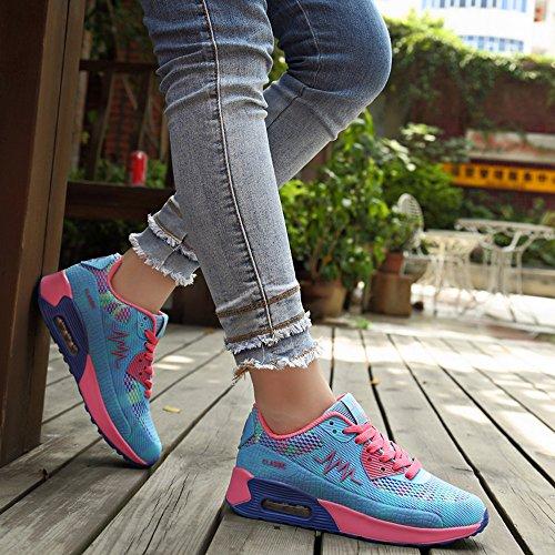 Peggie House,Femmes Chaussures de Course Sports Fitness Gym athlétique Baskets. Bleu & Rose