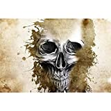 #8: Pitaara Box Tattoo Evil Design With Skull - MEDIUM Size 18.0 inch x 12.0 inch - FRAMED CANVAS Wall Paintings with 6mm (0.24 inch) THICK MDF MOUNTING FRAME : DIGITAL PRINT Wall Posters Art Panel like Hand Paintings : Home Interior Wall Décor Photo Gifts & Decorative Paintings for Bedroom, Living Room, Drawing, Dining Room, Kitchen, Office, Reception, Bathroom, Outdoor, Gallery, Hotels, Restaurants, & Balcony : Conceptual, Vintage : Fine Art Reprint