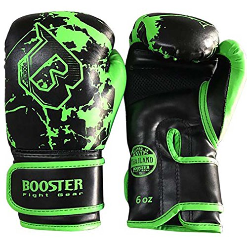 Booster Boxhandschuhe, Kinder, green-marble, Boxing Gloves, MMA, Muay Thai Size 6 Oz