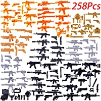 MOEGEN 258 pcs Custom weapons Set for Police Soldier Minifigures ,Match the mainstream building blocks