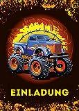 12 Einladungskarten Kindergeburtstag Jungen Monstertruck Jungs Geburtstagseinladungen Einladungen Kartenset Monster-Truck Geburtstag Karten Auto