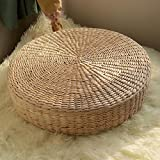 Best Natural Chair - Generic 40cm Natural Straw Meditation Yoga Seat Round Review