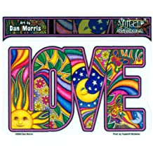 "Dan Morris - Classic Love decalcomania Sticker Decal - 5""w x 3 1/4"" h - Weather Resistant, Long Lasting for Any Surface"