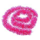 Eizur Weihnachten Lametta Girlande Weihnachtsbaum Band Girlande Ribbon Hängende Dekorationen Weihnachten Anhänger Weihnachtsschmuck - Rose