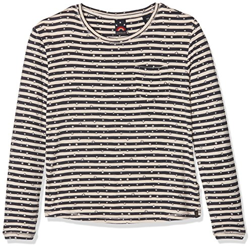Scotch&Soda R′Belle Regular Crew Neck with Allover Print, Sweat-Shirt Fille, (Combo C 23), 104