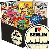 I love Berlin | Schokolade Box | Geschenkbox I love Berlin | Präsentkorb Schokolade | Geschenk Umzug Berlin | inkl. DDR Kochbuch