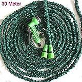ELROZO Qualitäts Gartenschlauch flexibeler Zauber Wasserschlauch dehnbar 30 Meter (30 Meter)