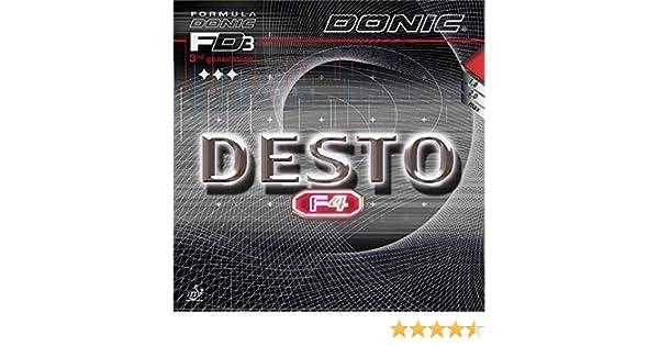 DONIC Desto F4/de Tennis de Table en Caoutchouc