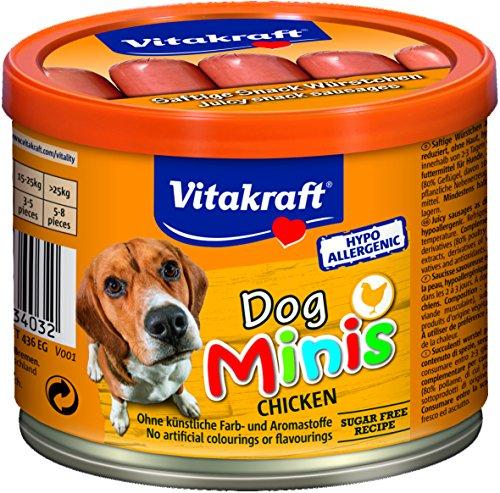 Vitakraft Dog Minis Salsicce di pollo per cani, Confezione da 2 (2x120g)