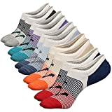Acewin Socquettes de Sport Pour Homme Basses Chaussettes Décontractées Coton Sneaker invisible No-Show Socquettes Anti glisse (Taille: 38-44, Couleur 2 (5 Paire))