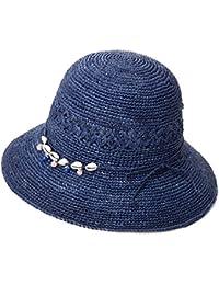 f69bcac763a Ladies Summer Sun Hats Women Panama Straw Beach Hats Foldable Wide Brim  Floppy Fedora - UPF 50…