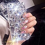 Voller Diamant Hülle für Samsung Galaxy A3 A310 2016,Aearl TPU Silikon Transparent 3D Bling Glitzer Kristall Steinchen Handyhülle Bumper Case Cover mit Displayschutzfolie für Samsung Galaxy A3 A310 2016 - klar