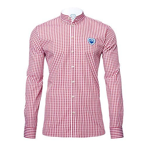 GaudiHerz - Trachtenhemd in rot (S)