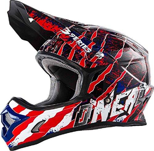 0623-463 - Oneal 3 Series Mercury Motocross Helmet M Blue Red White