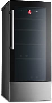 Hoover 58 Bottles Freestanding Beverage Wine Cooler, Black - HWC58B-X