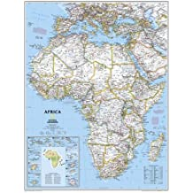National Geographic Map Africa Political, enlarged, Planokarte