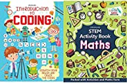 Introduction to Coding - Scratch Your Brain and Crack the Codes + STEM Activity Book - Maths (Set of 2 Books)