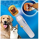 TAIYO PLUSS DISCOVERY® Pedi Paws Nail Grinder for Dogs & Cats/Powered Safe Auto Electric Pet Nail Clippers Trimmer Dog Cat Ge