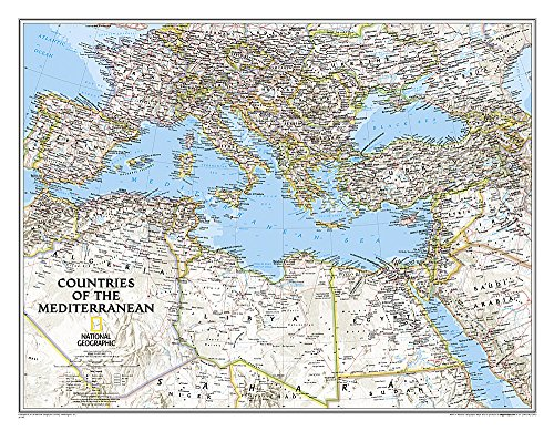 Mediterranean Region Classic, Tubed (National Geographic Reference Map)