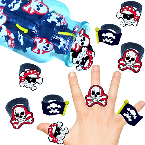 German Trendseller 6 x Kinder Ringe Piraten┃ Neu -