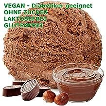 1 kg de helado de sabor en polvo de turrón de chocolate vegetariana - Azúcar -