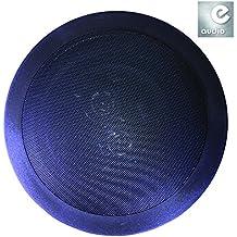 """E-audio negro redondo 6,5""""Altavoz de pared de techo con doble compensado agudos (2x 8Ohms @ 120W)"""