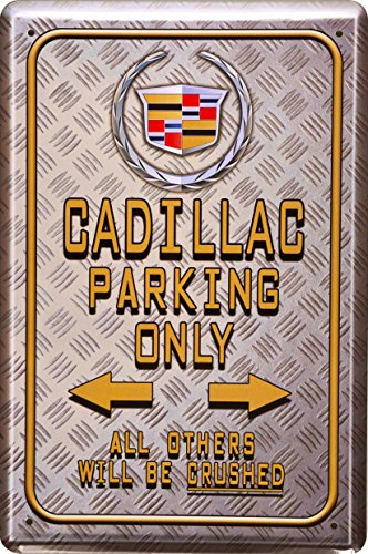 barschild-baraccessoires-cadillac-parking-only-blechschild-dekoschild-20x30cm-metal-sign-xps27ba