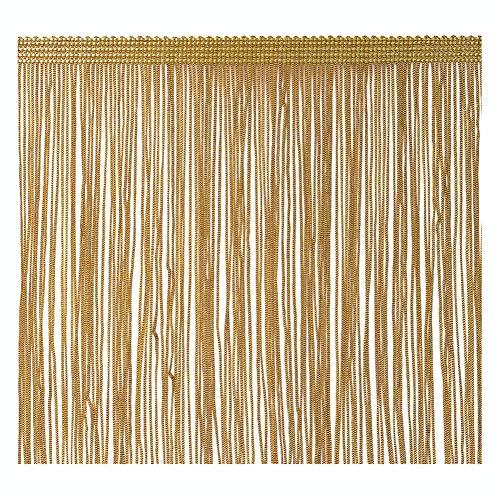 VoilaLove Fringe Trim Quaste 20 cm breit 2 Meter lang für Kleidung Accessoires Latin Hochzeitskleid DIY Dekoration (Gold) -
