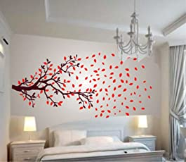 Decals Design 'Lovely Autumn Tree' Wall Sticker (PVC Vinyl, 60 cm x 90 cm, Multicolour)