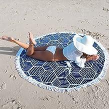 Toalla de playa toalla de playa borla Piquenique de verano redondo (borla panal)