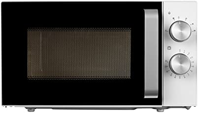 MEDION MD 18071 Kompakt Mikrowelle (800 Watt Leistung, mit Grill, 20 L Kapazität, 6 Leistungsstufen, Auftaufunktion) weiß