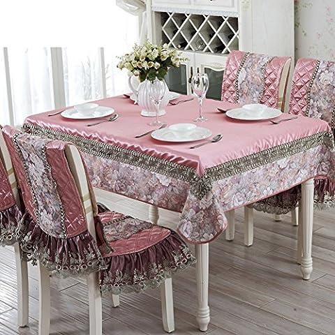 rivestimenti in tessuto di pizzo in stile europeo/Copertine per retro tappezzeria sedie Kit-B