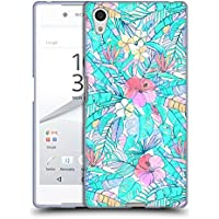 Official Micklyn Le Feuvre Pretty Pastel Hawaiian Florals Soft Gel Case for Sony Xperia Z5 / Z5 Dual