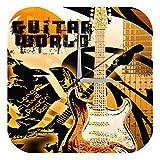 Horloge murale RÈtro Motif Marke Guitar Rock \'n\' Roll Imprimee Plexiglas 25x25 cm