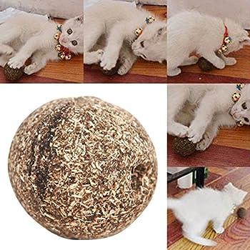 Hanyia Jouet pour chat Naturel Cataire Boule, Menthol Saveur, Gateries pour chats, 100% Comestibles Chats-aller-fou Traite