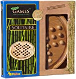 Philos 3159 Puzzle Games Solitaire, Big, Bamboo, Brown