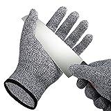 Gusspower Schnittschutz-Handschuhe - High Performance Level 5 Schutz Cut Resistant Handschuhe, Küche Sicherheit Arbeitshandschuhe, EN-388 Zertifiziert, Lebensmittelecht, Größe Medium, 1 Paar (M, Schwarz)