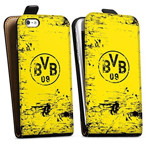 Apple iPhone 6 Plus Hülle Case Handyhülle Borussia Dortmund BVB Fanartikel Downflip Tasche schwarz