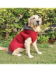 PoochMate Milano Hooded Dog Sweater Maroon (18)