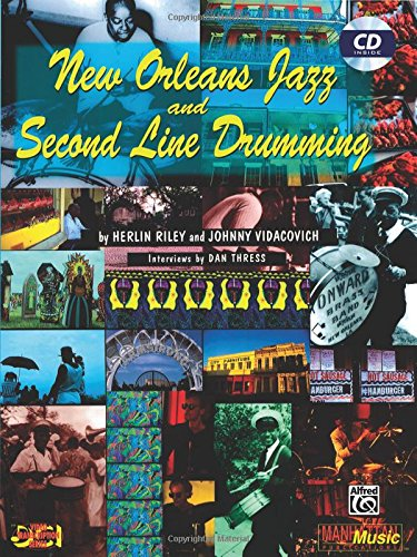 Book : New Orleans Jazz and Second Line Drumming by Riley  Herlin Paperback New