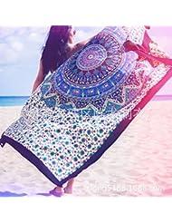 WDBS Ronds de serviettes de plage, tapis d'yoga, châle de soleil plage, wrap jupe